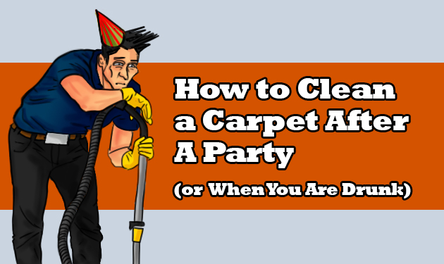 how to clean a carpet after a party