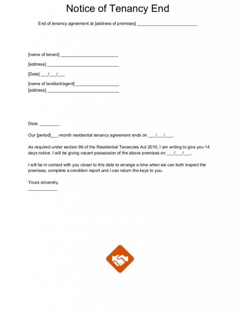 Sample Lease Termination Letter from www.moveoutmates.com.au