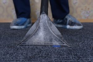 Close up of a vacuum cleaner during carpet cleaning in Sydney