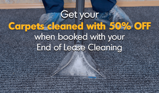 50% off carpet cleaning when combined with end of lease cleaning
