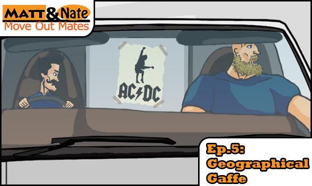 Matt and Nate sitting in a truck