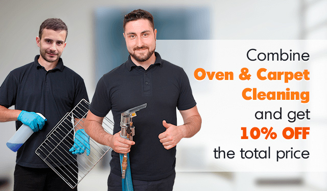 Combine Oven & Carpet Cleaning and Get 10% OFF the Price