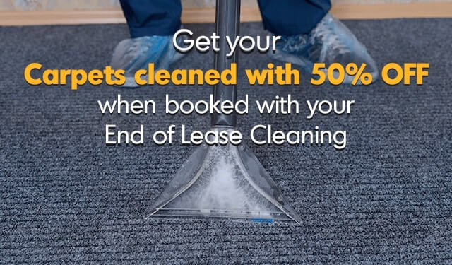 Get 50% Off Carpet Cleaning when Combined with End of Lease Cleaning