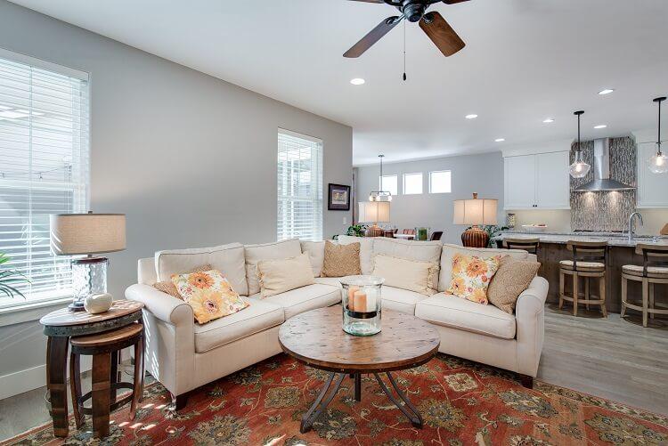 living room home decor, good lighting